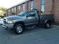 I am selling my 2005 Dodge Ram 2500 4x4 pick up truck