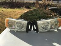 headlight assemblies rt & lt,  used, weathered, no