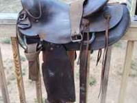 I've got a well used, heavy ranch saddle for sale. Has