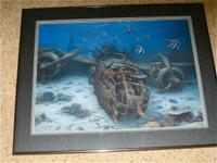 Limited Edition Randall Scot Framed Print Depicts B-25