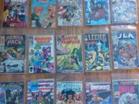 About 50 random comic books for sale. Most are in good