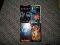 4 VHS cassettes. Halloween- The curse of michael myers.