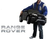 Range Rover Black Electric Ride-On Toy Sports Car Now