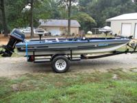 Older Ranger bass boat (84) has 115HP Evevrude