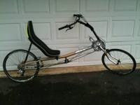 This is a Rans XStream Team recumbent bike with just