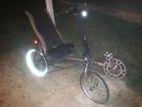 This is a Rans Rocket recumbent bicycle that's in great