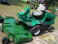 This is incredible zero turn Ransomes 728D mower that