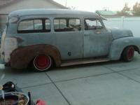 Uncommon 1952 Chevy Suburban. Bought it as a project