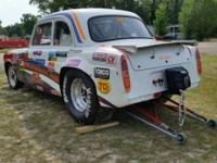 THIS IS A VERY RARE 1957 FORD ANGLIA COUPE DRAG CAR. (
