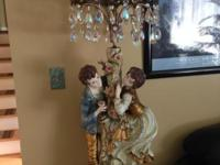 This is a pair (2 lamps) of gorgeous and unique vintage