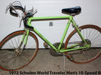 I have a Schwinn World Traveler Ten speed Road Bike /
