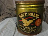 Beautiful Color! Dove Brand Family Pure Lard Can. From