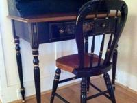 This classic, hand-painted Ethan Allen Writing Desk and