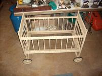 For sale is this rare antique Lullabye cradle great