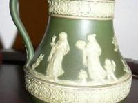 Beautiful antique Wedgwood jasperware pitcher. Marked