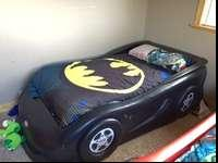 Selling my sons Little Tikes Black car bed. Takes a