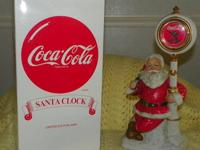 "THIS IS A ""RARE COLLECTIBLE"" COCA-COLA-SANTA CLOCK. 14"""