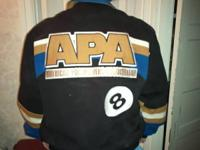 I have two (2) APA Jackets. Both are Large sizes. Worn