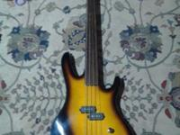This is a fretless washburn bass guitar hard to find