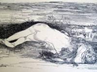 """Rare John Singer Sargent """"Study of a Young Man"""""""