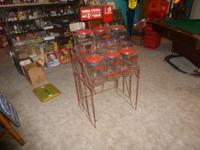 RARE 1950's Lance Rack with 6 Lance Jars with side rack