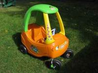 This hard to find Little Tikes Cozy Coupe is in