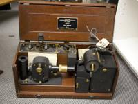 Several excellent pieces of antique medical equipment