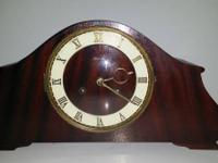 Rare Mid-Century Modern German Tambour Mantle Clock