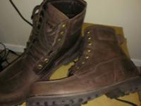 Offering this unusual brown Boot.  Original brand name