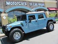 One of only 11 Open top Ocean Blue Hummers built in