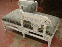 Rare Reclaimed 2 Seater Eastlake Gossip Bench Sofa