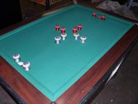 This extremely rare Valley Cougar Bumper Pool Table is