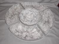 I have for sale a rare, vintage faux marble like glass,