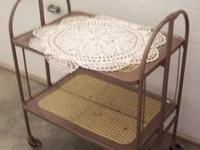 Rare Antique Folding Serving Cart $30. All original