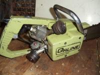 heres a rare vintage ORLINE model 129 chainsaw,its a