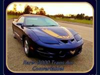 Offering a Rare, Hard to Find Trans Am Convertable with