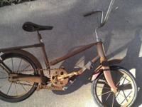 HERE IS A VERY RARE ANTIQUE HEDSTROM CHILDS BICYCLE.