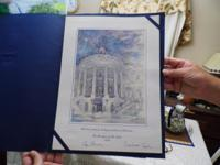 A rare 1989 Christmas Card given to white House staff