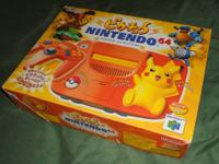 This orange Pikachu Pokemon N64 is a Japanese design