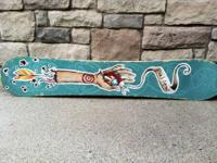 Have here a Rare hand painted with oils Snowboard by