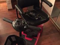Includes two new batteries, 2 speeds, basket in front,