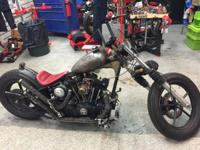 What a cool custom handmade one of a kind sporty bobber