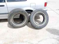These are a set of 235x75x15 bias ply tires. They have