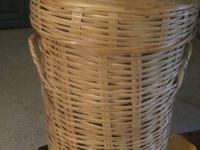 Very nice Ratan/Wicker Clothes Hamper or Storage Unit -