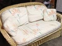 Rattan Love Seat.  Originally purchased from Macy's.