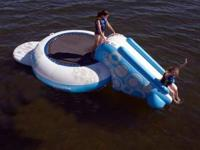 For sale is a RAVE O-Zone XL Plus water trampoline with