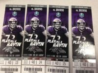 I AM A SEASON TICKET HOLDER SELLING:. 4 END ZONE