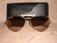 Special Ray Ban 50th anniversery Sunglasses with case.