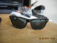 2 pair of Ray Ban Wayfarer shades. NEW NEW