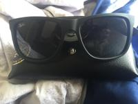 Selling a pair of Ray-Ban sunglasses. In great